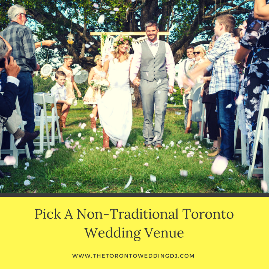 Pick A Non Traditional Toronto Wedding Venue